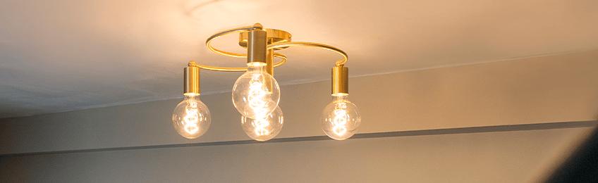 Lámparas de techo de oro / latón