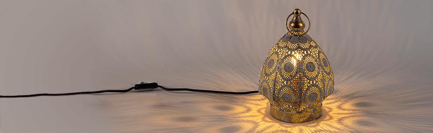 Lámparas de mesa orientales
