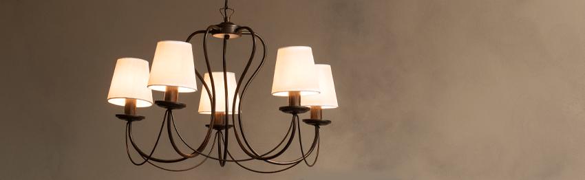 Lámparas de tela