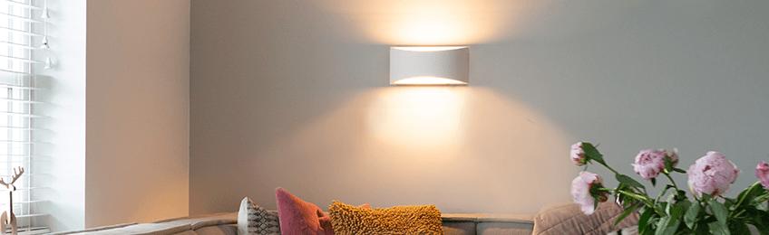 Lámpara de yeso