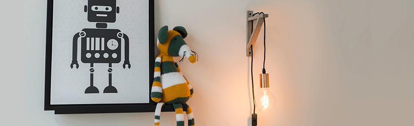 Lámparas de pared de madera