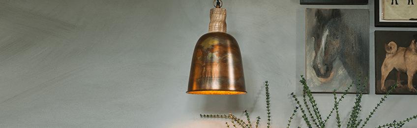 Lámparas colgantes de cobre