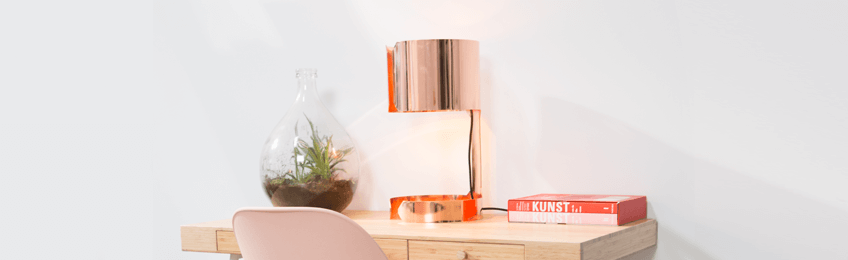 Lámparas de mesa de cobre
