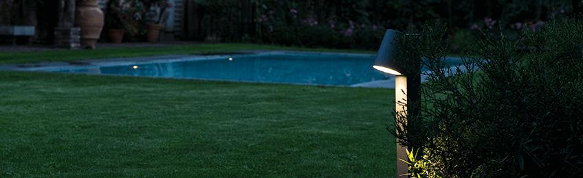 Lámparas de pie exterior
