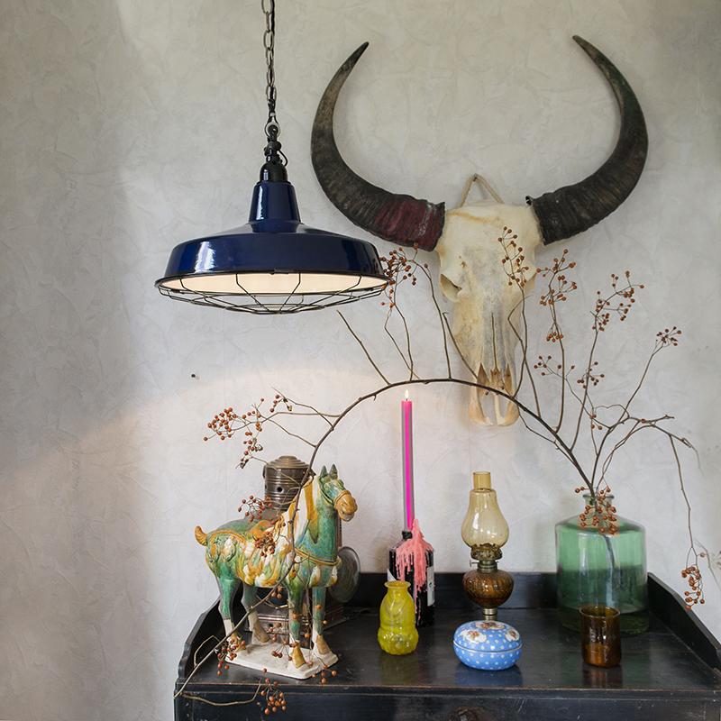 Lámpara oscuro colgante azul azul oscuro Lámpara colgante LOEK colgante LOEK Lámpara LOEK azul 4RL35Aj