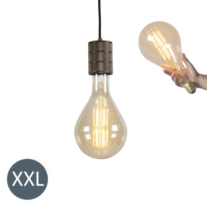 Lámpara-colgante-SPLASH-bronce-con-bombilla-LED-regulable