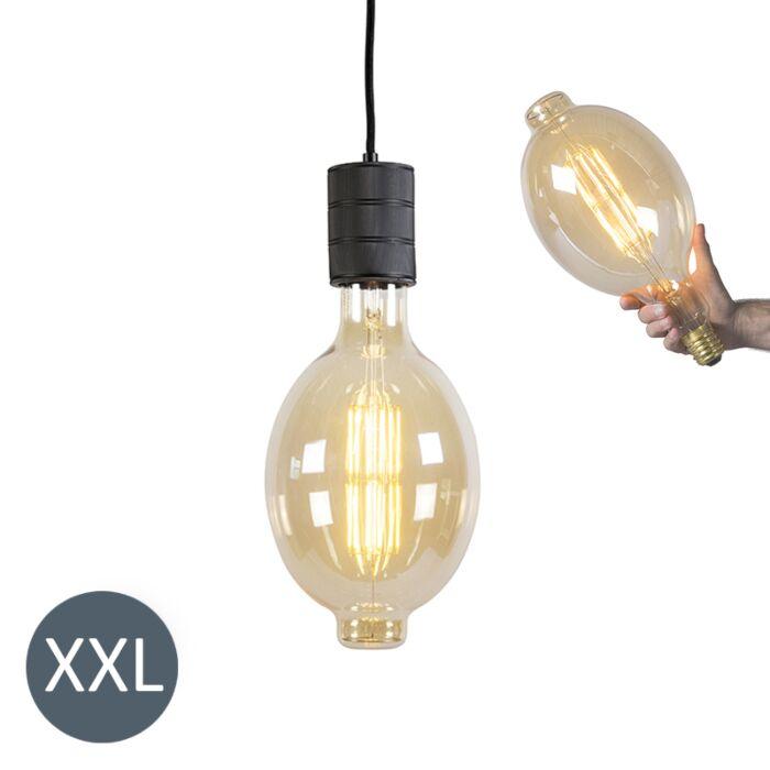 Lámpara-colgante-COLOSSEUM-negra-con-bombilla-LED-regulable