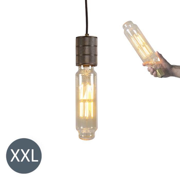 Lámpara-colgante-TOWER-bronce-con-bombilla-LED-regulable