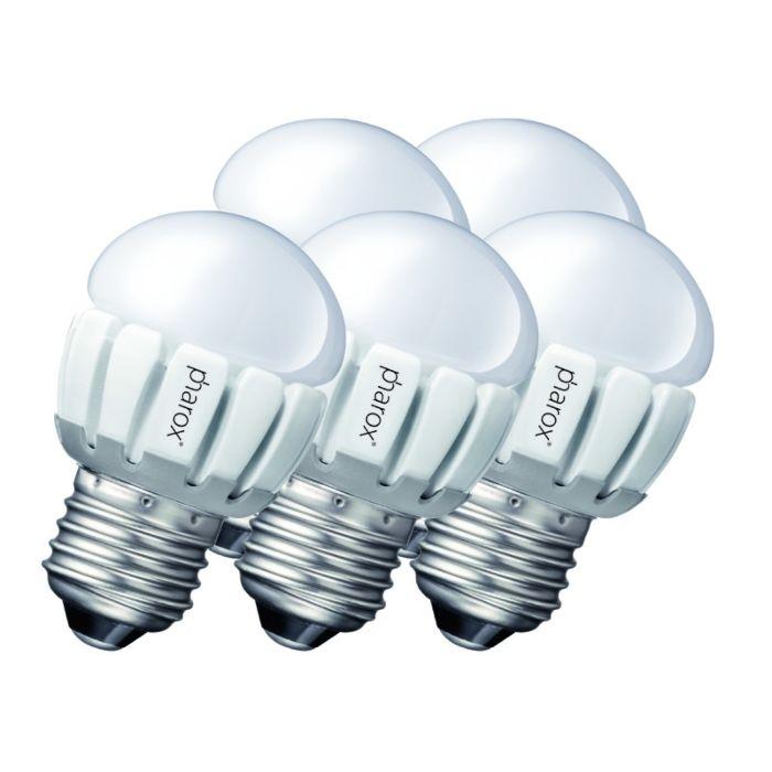 Set-de-5-bombillas-Pharox-LED-200-P45-E27-5W-230V