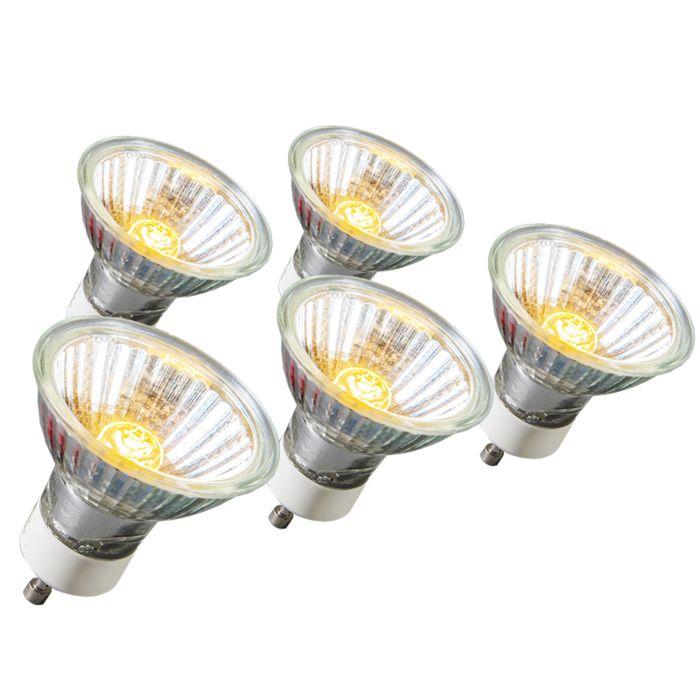 Set-de-5-bombillas-halógenas-GU10-28W-220LM-230V