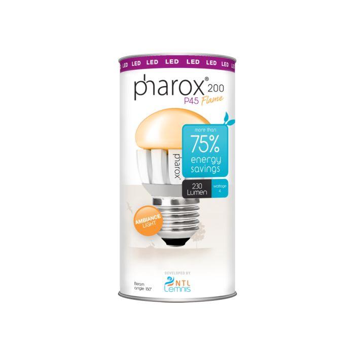 Bombilla-PHAROX-LED-200-P45-Flama-E27-4W-(=25W)