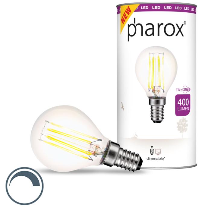 Lámpara-de-bola-LED-regulable-E14-Pharox-4W-400-lm-2700-K