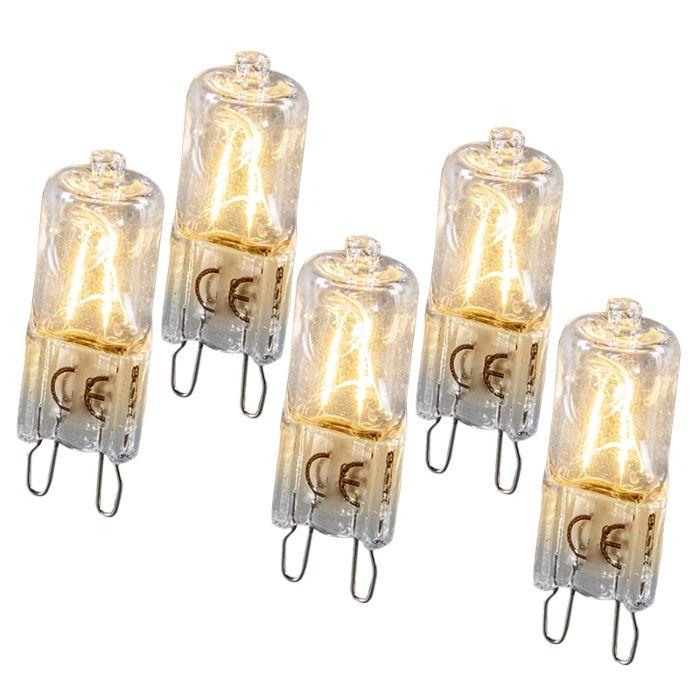 Set-de-5-bombillas-halógenas-G9-28W
