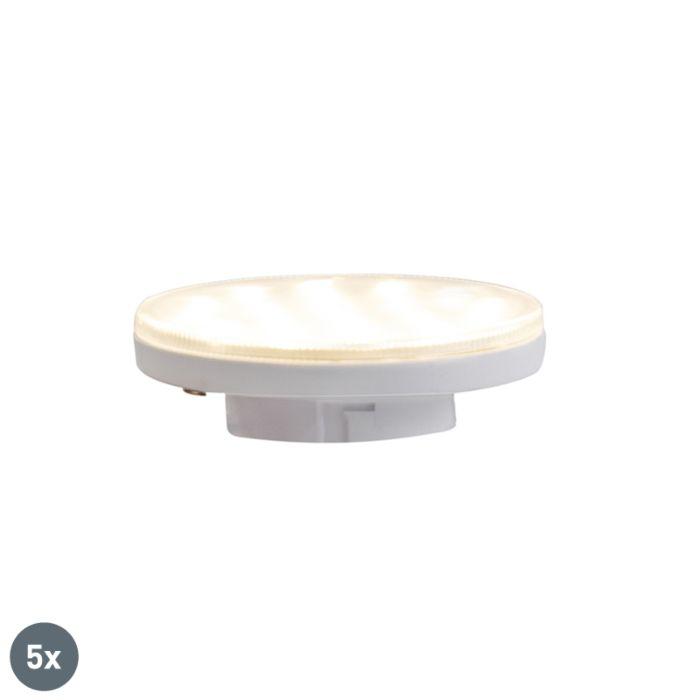 Juego-de-5-bombillas-LED-regulables-3-pasos-GX53-3W-350-lm-3000K