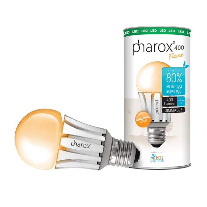 Bombilla-PHAROX-LED-400-flama-E27-8W-(=40W)