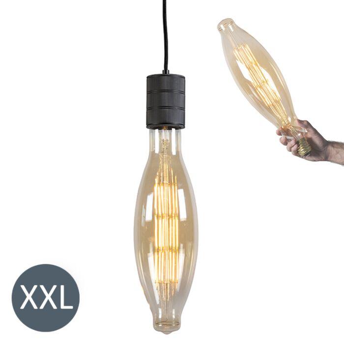Lámpara-colgante-ELIPS-negra-con-bombilla-LED-regulable