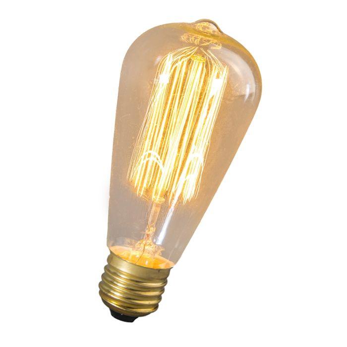 Bombilla-incandescente-filamento-GOLDLINE-Rústica-ST64-240V-40W-E27