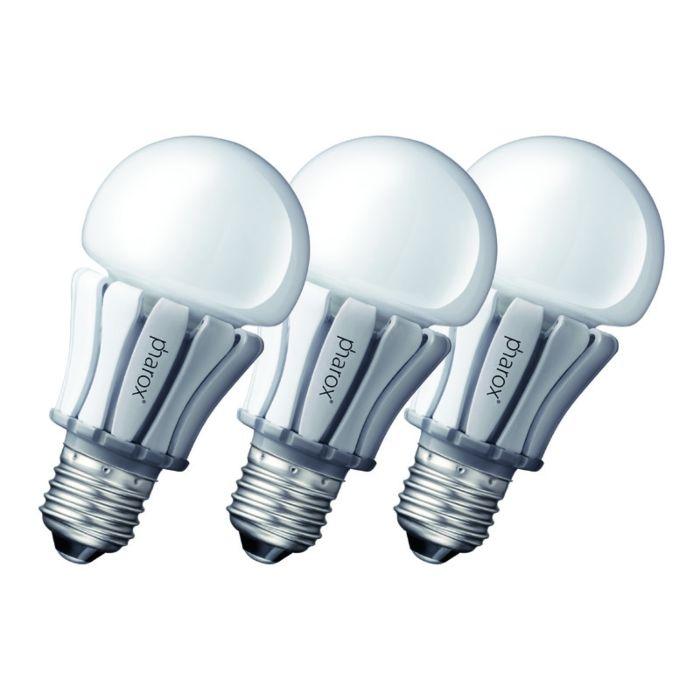 Set-de-3-bombillas-Pharox-LED-lamp-400-E27-8W-230V