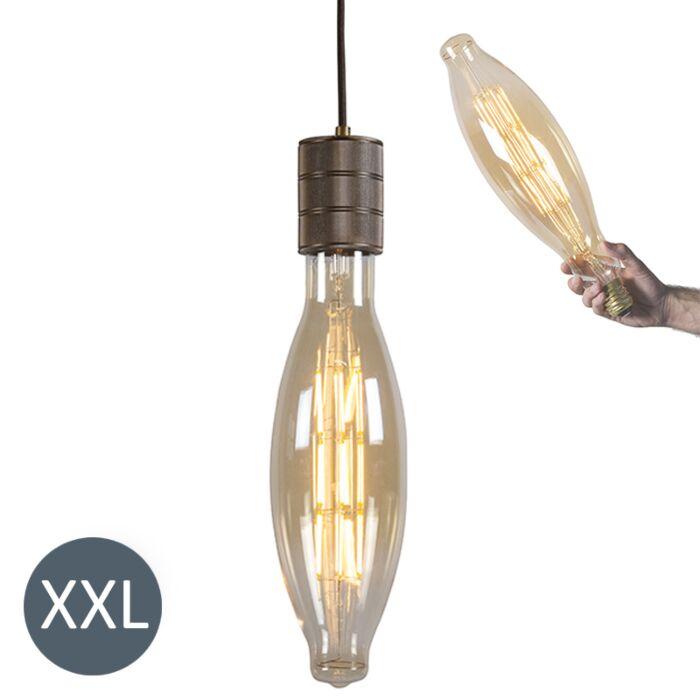 Lámpara-colgante-ELIPS-bronce-con-bombilla-LED-regulable
