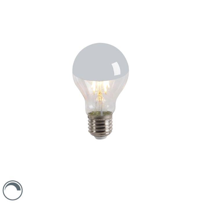 Bombilla-LED-regulable-cúpula-espejo-plata-E27-A60-4W-300lm-2300-K