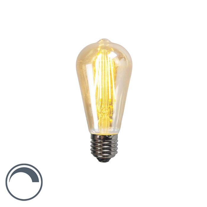Bombilla-LED-filamento-dorado-E27-5W-450LM-2200K-regulable-