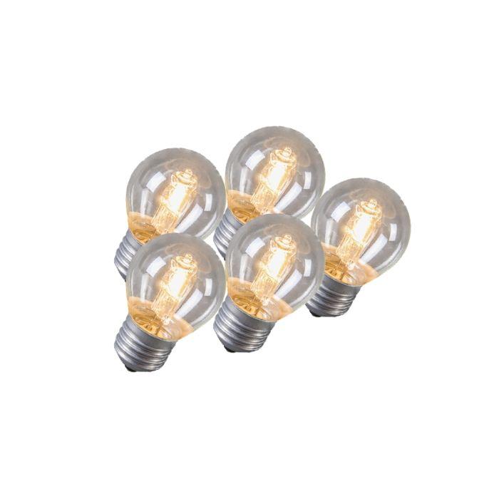 Set-de-5-bombillas-globo-halógena-E27-42W