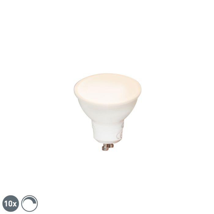 Set-de-10-bombillas-LED-regulables-GU10-6W-450lm-2700K
