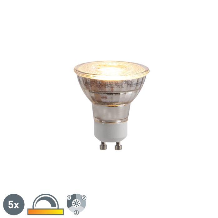 Set-de-5-bombillas-LED-GU10-regulables-3-pasos-2000-2700K-5W
