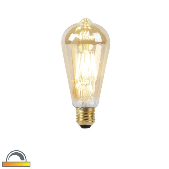 Bombilla-LED-E27-filamento-dorado-ST64-8W-2000-2600K-
