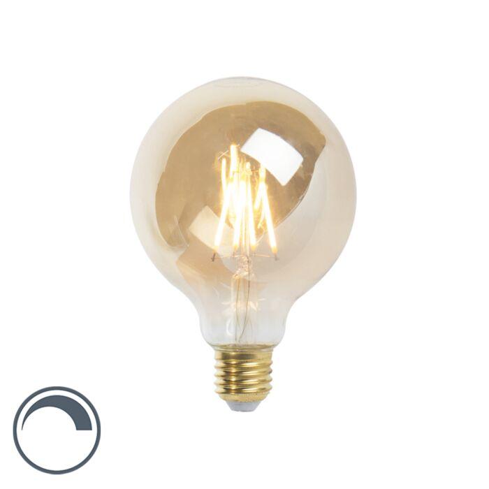Bombilla-filamento-LED-regulable-E27-G95-GOLDLINE-2200K