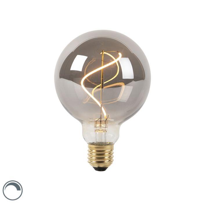Bombilla-filamento-espiral-LED-regulable-E27-G95-ahumada-4W-100lm-2100K
