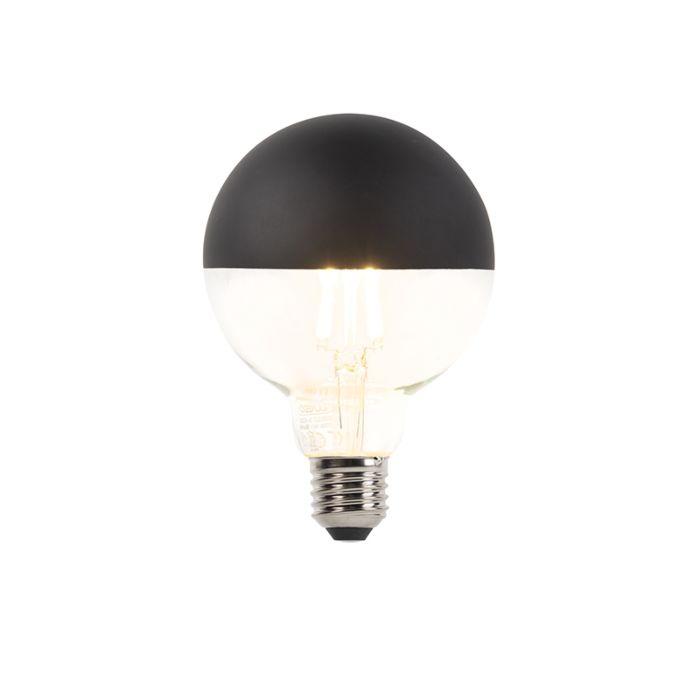 Bombilla-E27-regulable-LED-filamento-cúpula-negra-G95-400lm-2700K