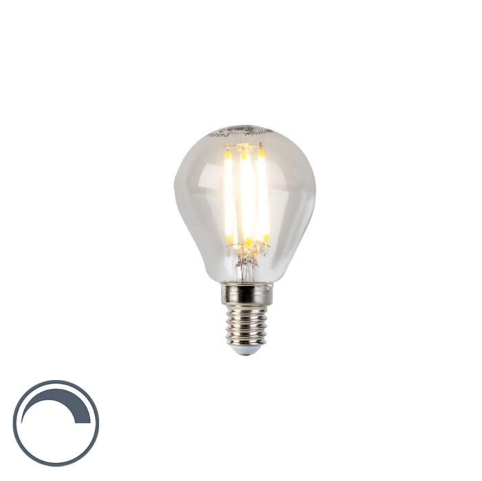 Bombilla-LED-E14-5W-470lm-regulable-filamento-pera