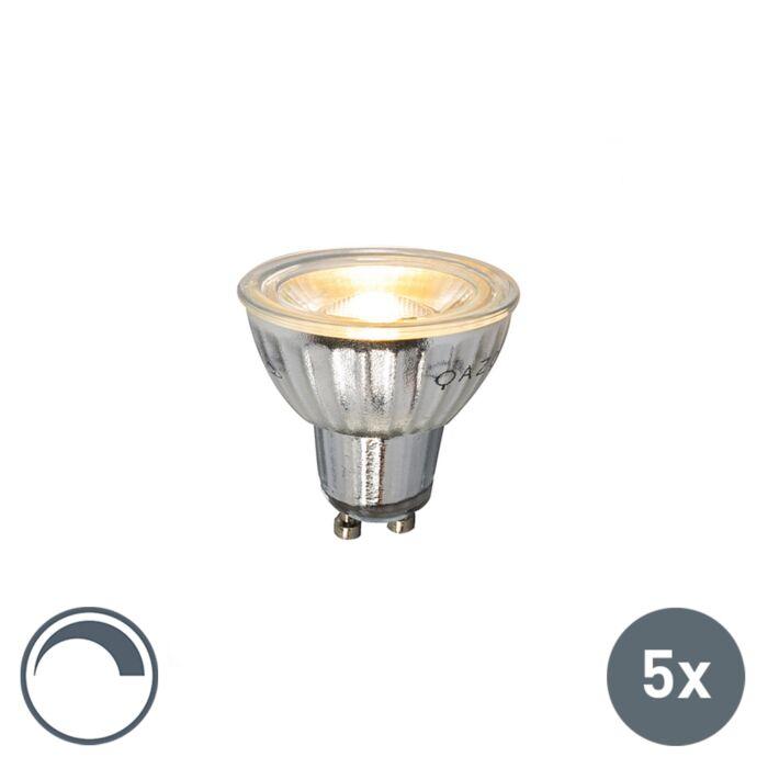 Set-de-5-bombillas-GU10-LED-230V-5W-380LM-2700K-regulable