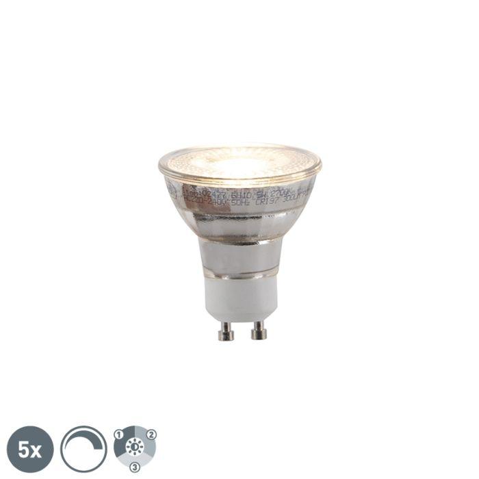 Set-de-5-bombillas-LED-regulables-3-pasos-GU10-5W-300lm
