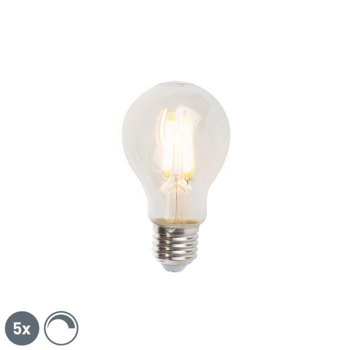 Set-5-bombillas-filamento-LED-regulables-E27-A60-7W-806lm-2700K