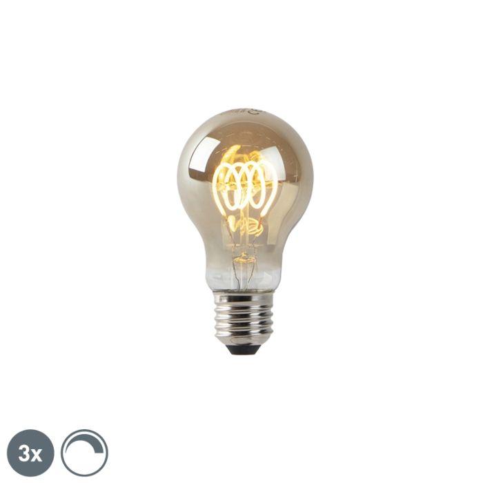 Set-3-bombillas-LED-regulables-ahumado-filamento-E27-4W-160-lm-2200K
