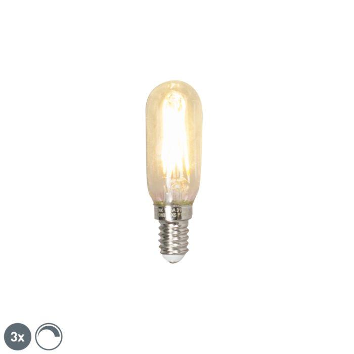 Set-de-3-bombillas-E14-LED-tubo-filamento-3W-310LM-2700K-regulable