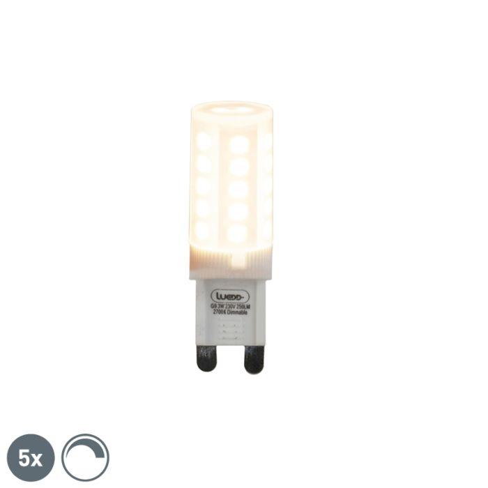 Set-de-5-bombillas-LED-regulables-G9-3W-280lm-2700K
