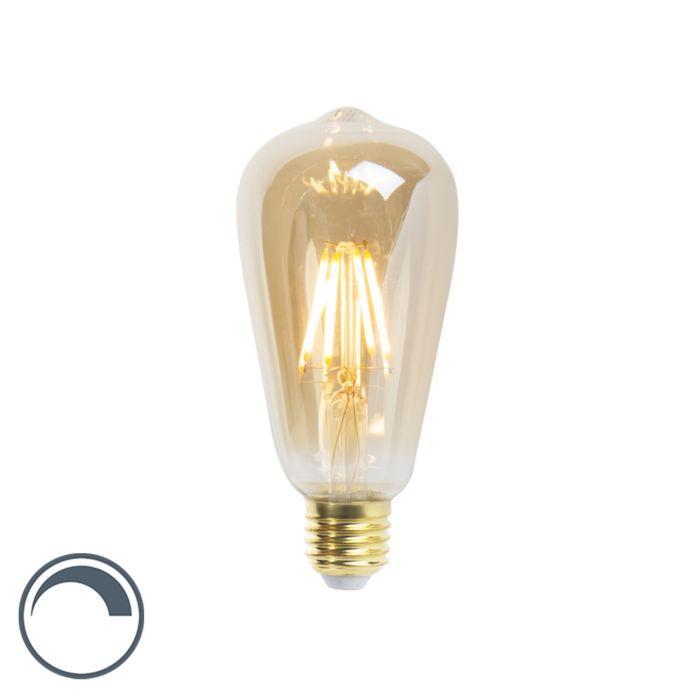 Bombilla-filamento-LED-regulable-E27-ST64-goldline-5W-360lm-2200K