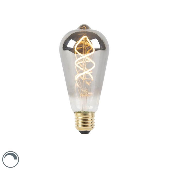 Bombilla-filamento-espiral-LED-regulable-E27-ahumado-100lm-2100K