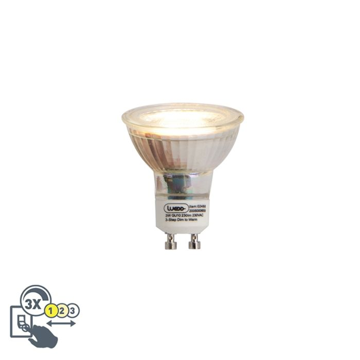Bombilla-LED-GU10-regulable-color-3-pasos-3W