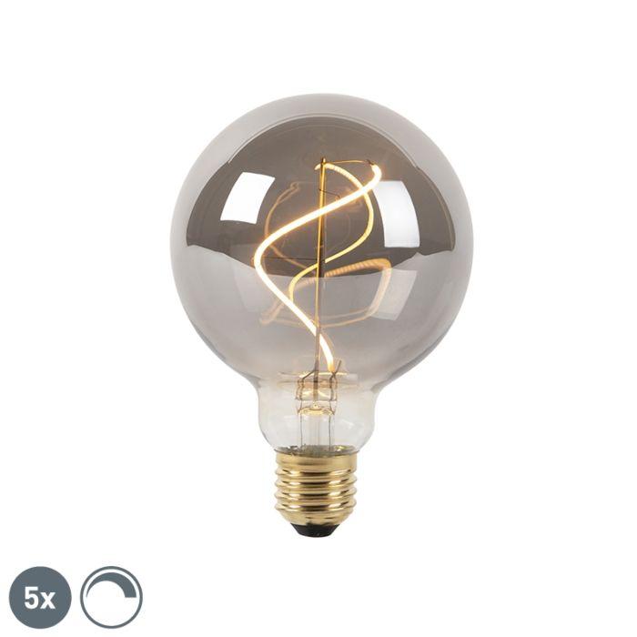 Set-de-5-bombillas-ahumado-filamento-LED-regulables-E27-G95-2100K
