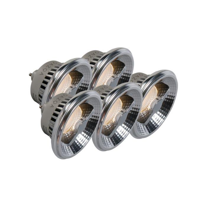 Set-de-5-bombillas-GU10-AR111-LED-12W-240V-3000K-regulable