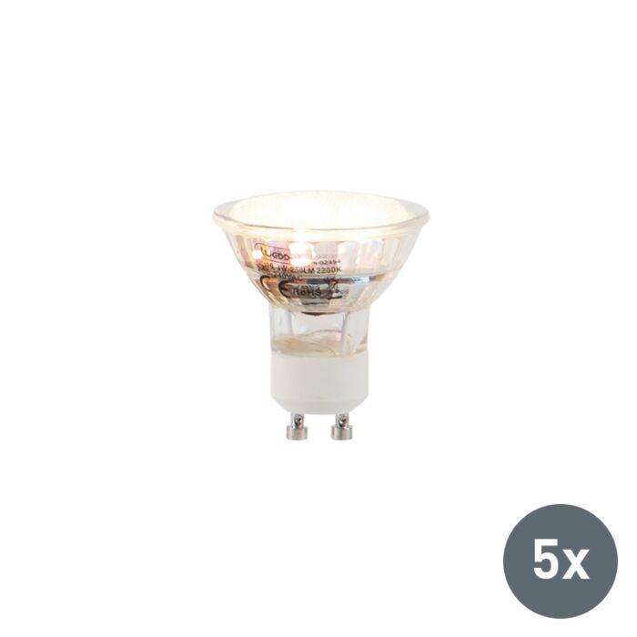 Set-5-bombillas-LED-GU10-3W-250lm-2200K
