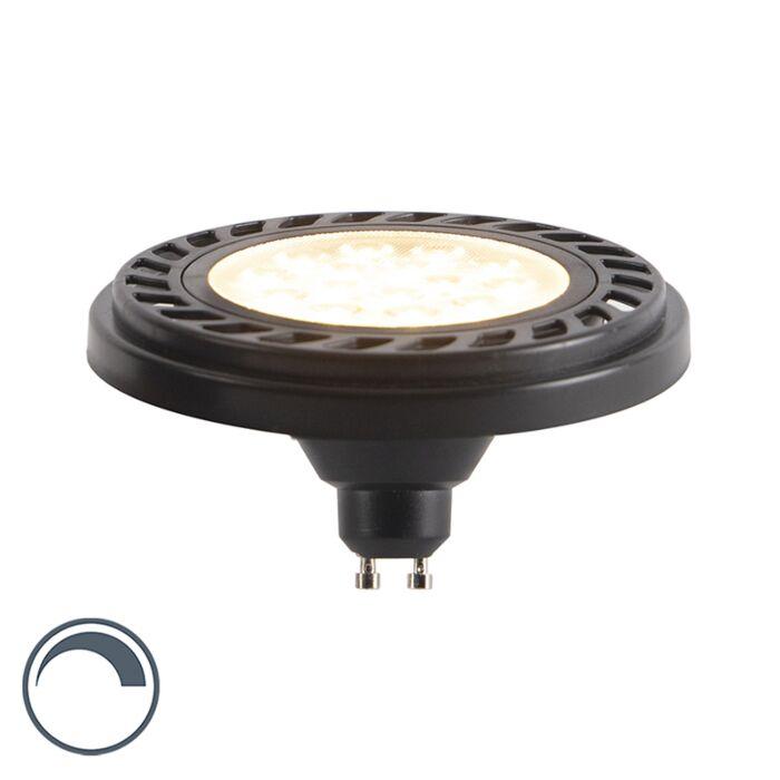 Bombilla-LED-GU10-regulable-AR111-negro-9W-800lm-2700K