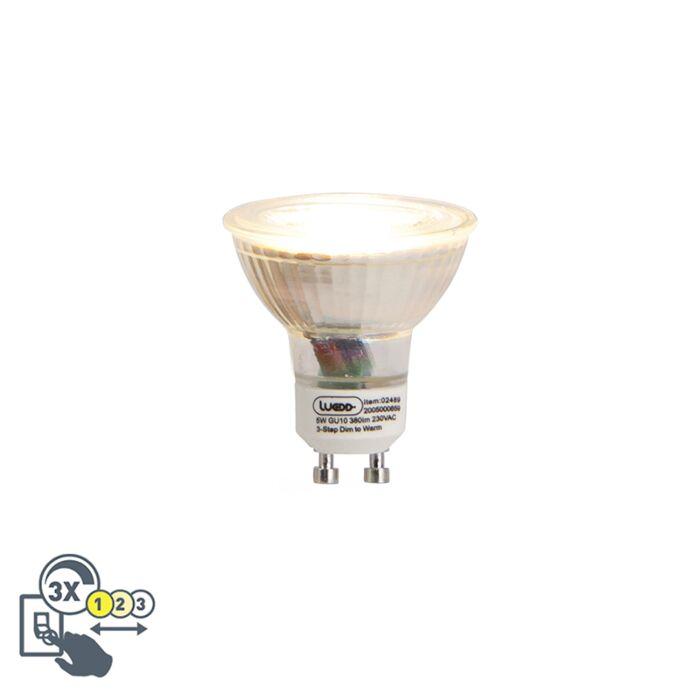 GU10-LED-lamp-5W-3-staps-Dim-to-warm