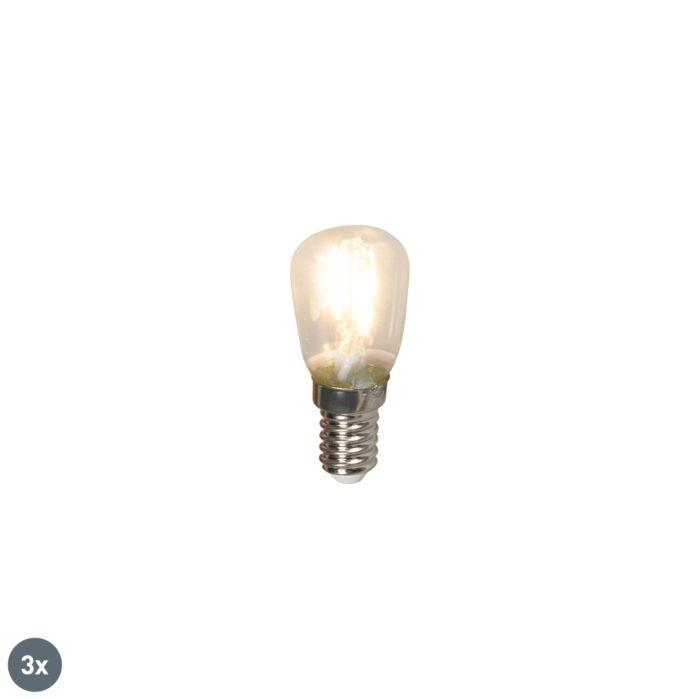Set-3-bombillas-chatas-filamentos-LED-E14-T26-1W-100lm-2700K
