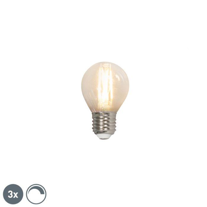 Set-3-bombillas-filamento-LED-E27-240V-3.5W-350lm-P45-regulable
