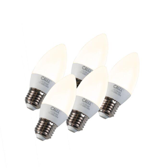 Set-de-5-bombillas-vela-LED-E27-5W-240V-2700K-regulable